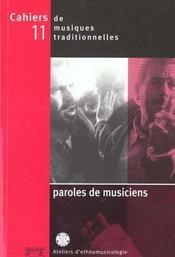 Revue Cahiers Traditionnels N.11 Paroles De Musiciens - Intérieur - Format classique