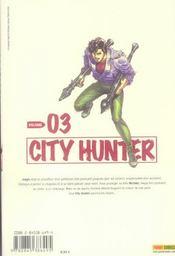 City hunter t.3 - 4ème de couverture - Format classique