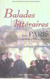 Balades littéraires dans Paris de 1848 à l'affaire Dreyfus - Intérieur - Format classique