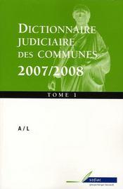 Dictionnaire judiciaire des communes (édition 2007/2008) - Intérieur - Format classique