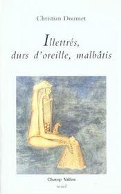 Illetres Durs D'Oreille Malbatis - Intérieur - Format classique