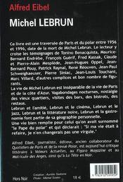 Michel lebrun - 4ème de couverture - Format classique