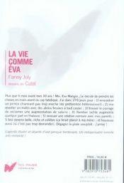 La vie comme Eva - 4ème de couverture - Format classique
