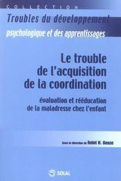 Trouble de l'acquisition de la coordination - Intérieur - Format classique
