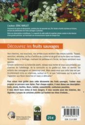 Découvrez les fruits sauvages - 4ème de couverture - Format classique