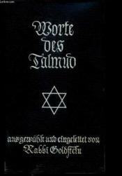 Worte Des Talmud - Couverture - Format classique