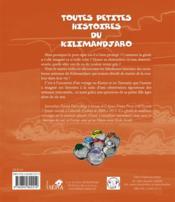 Toutes les petites histoires du Kilimandjaro - 4ème de couverture - Format classique