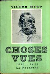 Choses Vues 1830-1854. - Couverture - Format classique