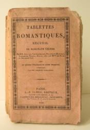 TABLETTES ROMANTIQUES. Recueil de morceaux choisis. - Couverture - Format classique