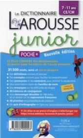 Le dictionnaire Larousse junior poche plus - 4ème de couverture - Format classique
