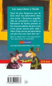 Les Soeurcieres A L'Ecole - 4ème de couverture - Format classique
