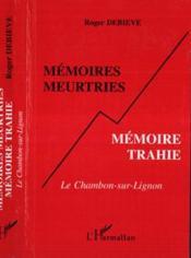 Memoires Meurtries Memoire Trahie - Couverture - Format classique
