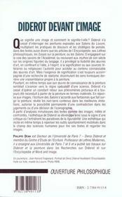 Diderot Devant L'Image - 4ème de couverture - Format classique