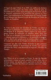 La trilogie des templiers t.1 ; les chevaliers du christ - 4ème de couverture - Format classique