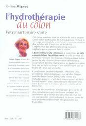 Hydrotherapie du colon nouvelle edition (l') n.88 (édition 2005) - 4ème de couverture - Format classique