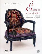 Élégance et modernité ; 1908-1958, un renouveau à la française - Couverture - Format classique
