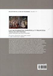 Las monarquias espanola y francesa (siglos XVI-XVIII) - 4ème de couverture - Format classique