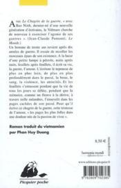 Le chagrin de la guerre (édition 2010) - 4ème de couverture - Format classique