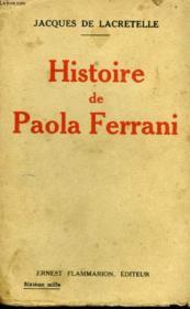 Histoire De Paola Ferrani. - Couverture - Format classique