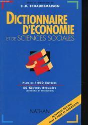 Dictionnaire D'Economie Et De Sciences Sociales (Nelle Edition) - Couverture - Format classique