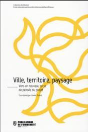 Ville territoire paysage - Couverture - Format classique