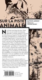 Sur la piste animale - 4ème de couverture - Format classique