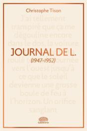 Journal de L. (1947-1952) - Couverture - Format classique