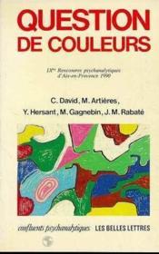 Question De Couleurs - Couverture - Format classique