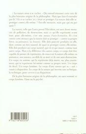 Logique De La Nature - 4ème de couverture - Format classique