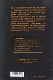 Les Dossiers Classes De La Presse Anglo-Saxonne Tome 6 - 4ème de couverture - Format classique
