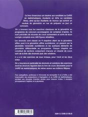 Geometrie Exercices Corriges Pour Le Capes De Mathematiques Avec Resumes De Cours & 600 Figures - 4ème de couverture - Format classique