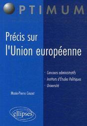 Précis sur l'Union européenne - Couverture - Format classique