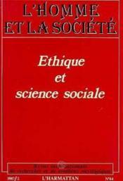 Ethique Et Science Sociale - Couverture - Format classique