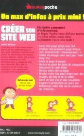 Creer son site web - 4ème de couverture - Format classique