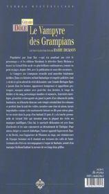 Le vampyre des grampians ; les nouvelles aventures de harry dickson - 4ème de couverture - Format classique