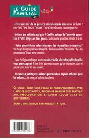 Le guide familial, 2001 - 4ème de couverture - Format classique