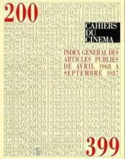 Index General Des Articles Publies De Avril 1968 A... - Couverture - Format classique