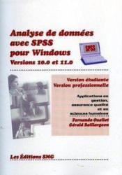 Analyse de données avec SPSS pour Windows ; versions 10.0 et 11.0, version étudiante et version professionnelle - Couverture - Format classique