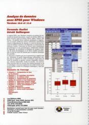 Analyse de données avec SPSS pour Windows ; versions 10.0 et 11.0, version étudiante et version professionnelle - 4ème de couverture - Format classique