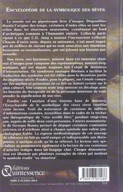 Encyclopedie de la symbolique des reves - 4ème de couverture - Format classique