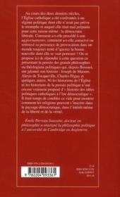 Catholicisme et démocratie ; une histoire de la pensée politique - 4ème de couverture - Format classique