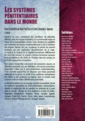 Les systèmes pénitentiaires dans le monde (2e édition) - 4ème de couverture - Format classique