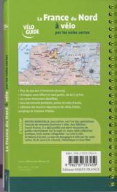 La France du nord à vélo par les voies vertes - 4ème de couverture - Format classique