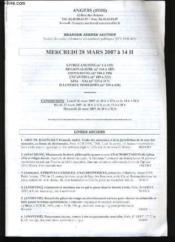 Vente Aux Encheres De Livres Anciens. - Couverture - Format classique