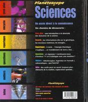 Sciences - 4ème de couverture - Format classique