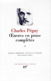 Oeuvres en prose complètes t.2 - Couverture - Format classique