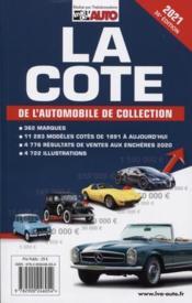 La cote de l'automobile de collection (édition 2021) - Couverture - Format classique