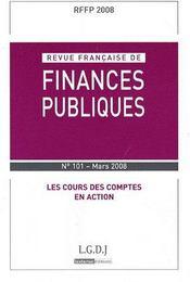 Les cours des comptes en action (mars 2008) - Couverture - Format classique