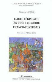 L'acte legislatif en droit compare franco-portugais - Intérieur - Format classique