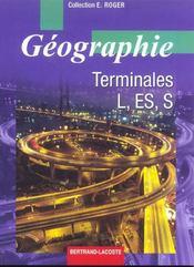 Geographie Terminale L Es S - Intérieur - Format classique